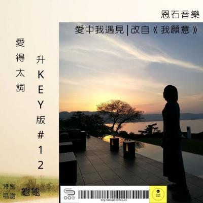 愛得太詞升Key版(12)- 愛中我遇見 | 改自《我願意》
